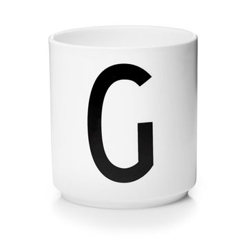 ​Design Letters - Personal Porcelain Cup G - White