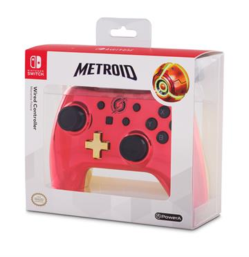 PowerA Wired Controller - Chrome Samus