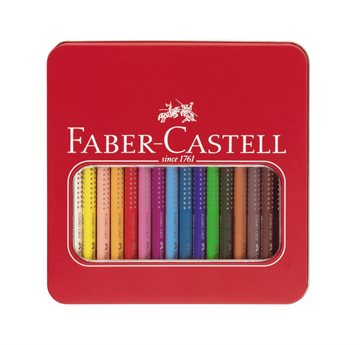 Faber-Castell - Jumbo Grip Colour Pencils Tin - 16 pc (110916)