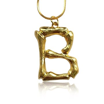 Everneed Bamboo Letters B – Guld
