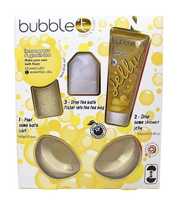Bubble T Bath Fizzer 4Pc Set Lemongrass