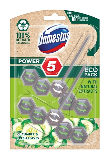 DOMESTOS TOILET BLOCK CUCUMBER 2X55G