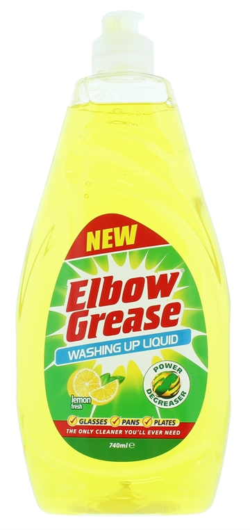 Elbow Grease 740ml Washing Up Liquid Lemon