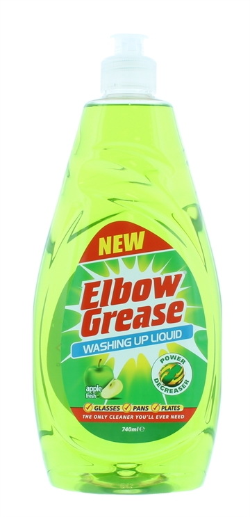 Elbow Grease 740ml Washing Up Liquid Apple