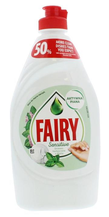 Fairy Teatree & Mint Dish Sensitive 450ml
