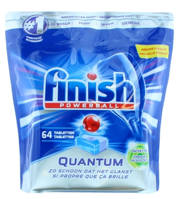 Finish Powerball Quantum Dishwasher Tabs Degreaser 64's