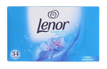 Lenor 34 Pack Tumble Dryer Sheets Spring
