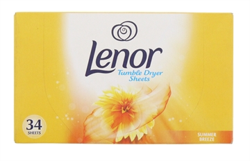 Lenor 34 Pack Tumble Dryer Sheets Summer