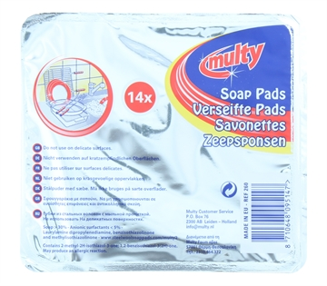 Multy Soap Pads 14 Pack