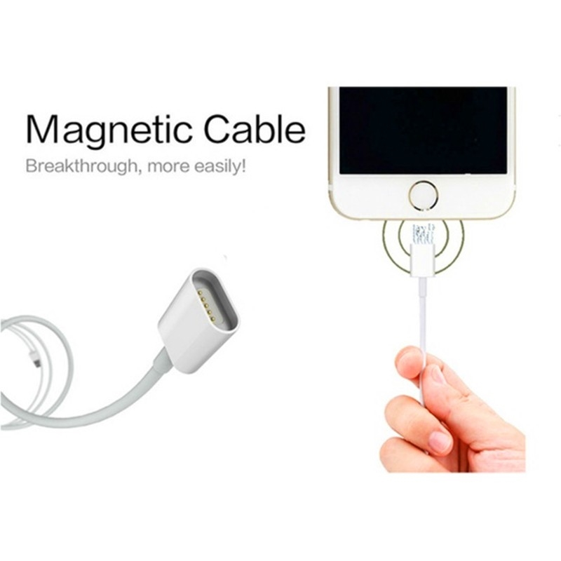 Magnetisk Mobilladdare Iphone & Android Laddare (Apple Lightning, USB C og Micro USB Kabel)
