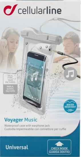 "Waterproof ""Voyager"" cover for smartphones, White"