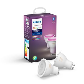 Philips Hue White och Color Ambiance 2-pack GU10