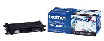 Brother TN-135BK Svart Lasertoner, 5.000 sider