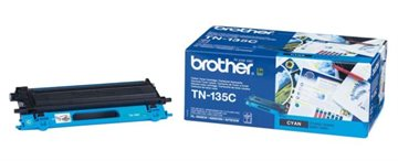 Brother TN-135C Cyan Lasertoner, 4.000 sider