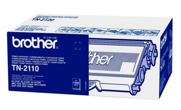 Brother TN-2110 Svart Lasertoner, 1.500 sider