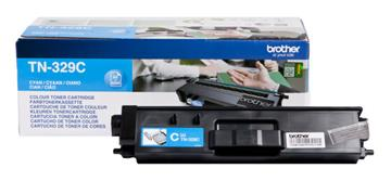 Brother TN329C Cyan Lasertoner, 6.000 sider