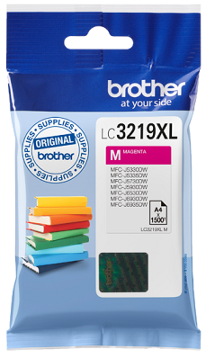 Brother LC3219XLM Magenta Bläckpatron, 1.500 sider