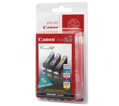 Canon CLI-521 2934B007AA Multipack C/M/Y Bläckpatron, 505 sider