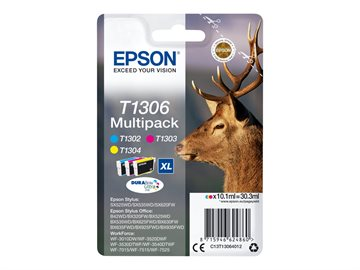 Epson T1306 C13T13064012 CMY Multipack Bläckpatron, 600 sider