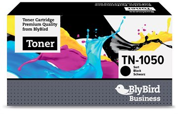 Brother TN-1050 Sort Lasertoner, 1.000 sider Kompatibel