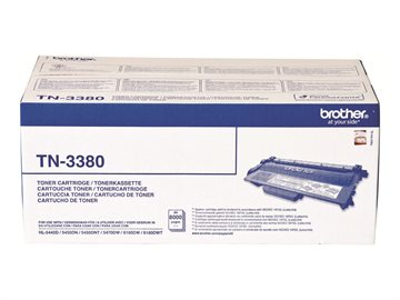 Brother TN-3380 Svart Bläckpatron, 2 x 8.000 sider