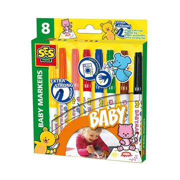 Baby markers, 8 colours