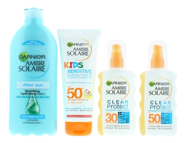 Garnier Ambre Solaire Family Sun Cream & Aftersun Kit Spf30/Spf50