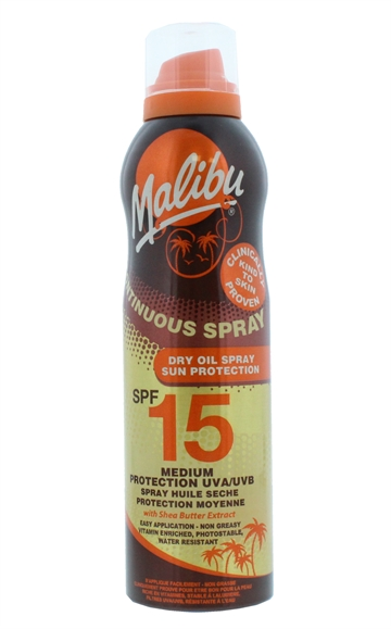 MALIBU SPF15 CONT DRY SPRAY  175ML