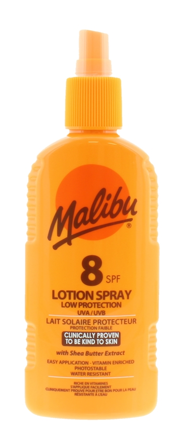 MALIBU SPF8 LOTION SPRAY 200ML