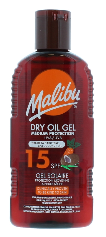 MALIBU SPF15 DRY OIL CAROTENE  200ML