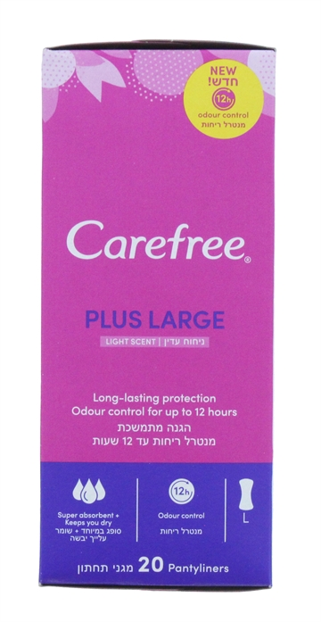 Carefree Liners Plus Large Scented 20'S