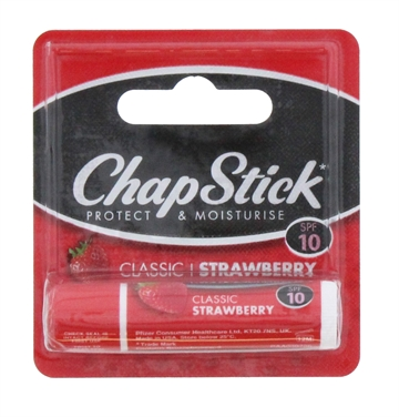 CHAPSTICK CARDED LIP BALM STRAWBERRY