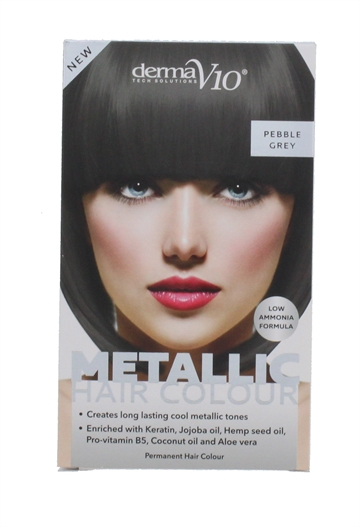 Derma V10 Metal Hair Colour Pebble Grey
