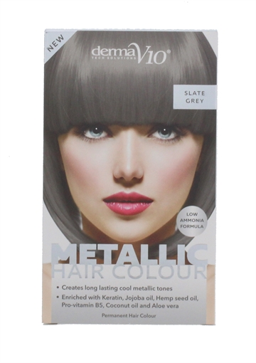 Derma V10 Metal Hair Colour Slate Grey