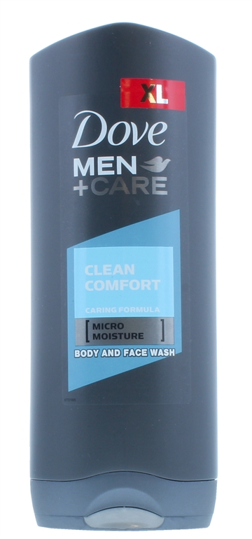 Dove Men+Care 400ml Body Wash Clean Comfort Srp Pack