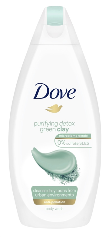 Dove 500ml Body Wash Detox Green Clay