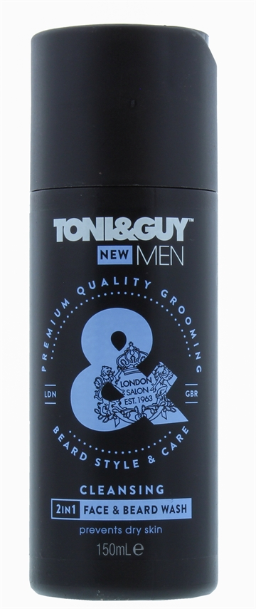 Toni & Guy 150ml 2In1 Cleansing Beard And Face Wash