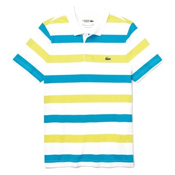 LACOSTE Sport Striped Ultra Light Cotton White / Citron / Cuba XXXXL