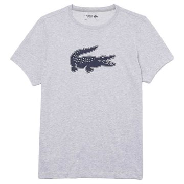 LACOSTE Sport 3D Print Crocodile Breathable Grey Chine / Navy Blue XXXL