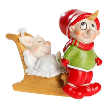 Gnome, H 8cm, W 6cm, Red,White/, Julius