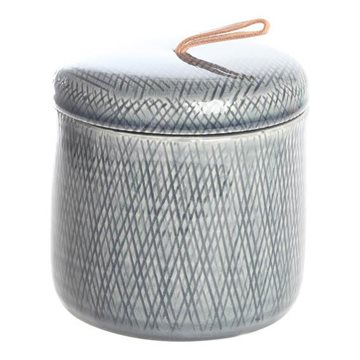 Jar grey, H 12,5cm, Dia 12,5cm, Gray