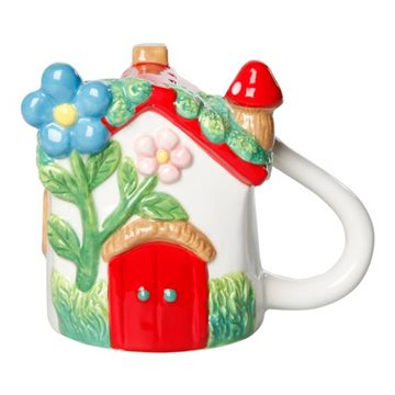 Mug, H 10,5cm, W 12,5cm, D 8,2cm, Red/ Green/White