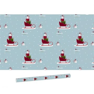 Giftpaper, H 70cm, W 500cm, 5m/rll/rll, Christmas Moments Blue