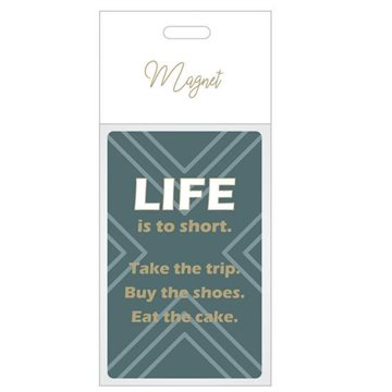 Magnet, H 8cm, W 5,4cm, D 0,4cm, 1/bag/Bag, Statement