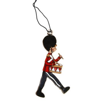 Figure for hanging, H 10cm, Nostalgic Soldier, Red