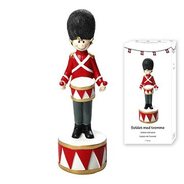 Figure, H 16cm, Dia. 5cm, 1/Colourbox, Red/ White/ Black, Nostalgic Soldier 1/bo
