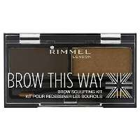 Rimmel Brow This Way Eyebrow Sculpting Kit ögonskugga Brun