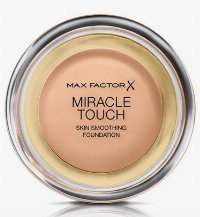 Max Factor Miracle Touch makeupbas och foundation Kanna Puder